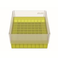 Storage box voor 81 buizen, geel, b80y