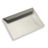 Papieren envelop 125 x 175 star silver