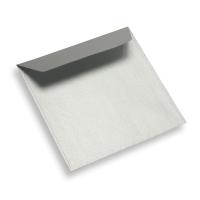 Papieren envelop 130 x 130 star silver