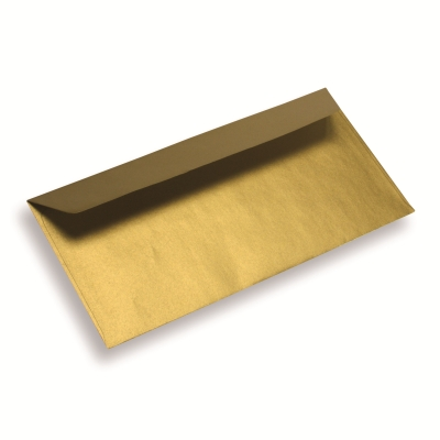 Papieren envelop Din Long sunshine gold
