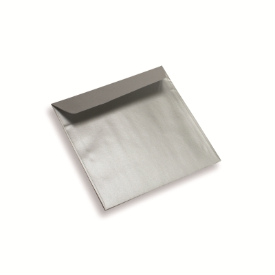 Papieren envelop 155 x 155 star silver