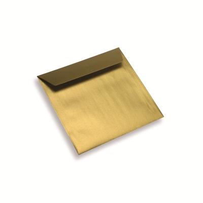 Papieren envelop 155 x 155 sunshine gold