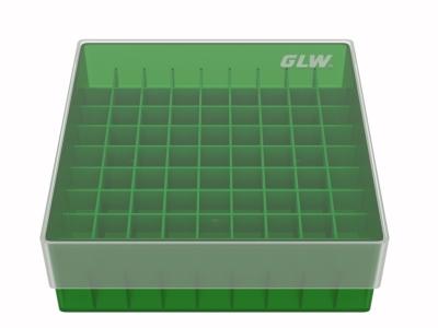 Storge box voor 81 buizen, groen, b50g