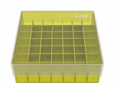 Storage box voor 49 buizen, geel, b47y
