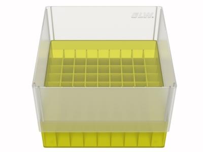 Storage box voor 81 buizen, geel, b99y
