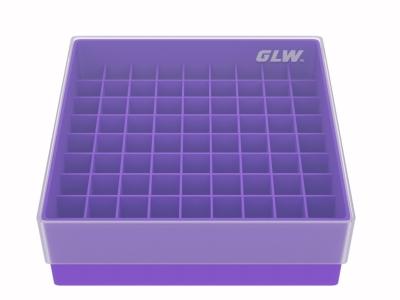Storage box voor 81 buizen, violet, b50v