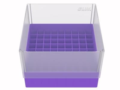 Storage box voor 81 buizen, violet, b99v
