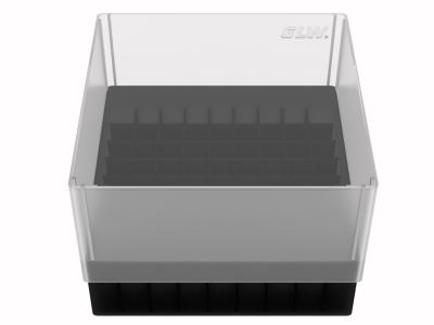 Storage box voor 81 buizen, zwart, b99s