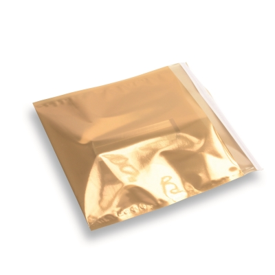 Snazzybag 220 x 220 goud half transparant