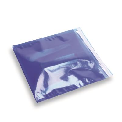 Snazzybag 220 x 220 blauw half transparant