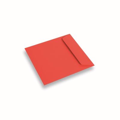 Papieren envelop 170x170 Koraalrood
