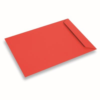 Papieren envelop 220x312 Koraalrood