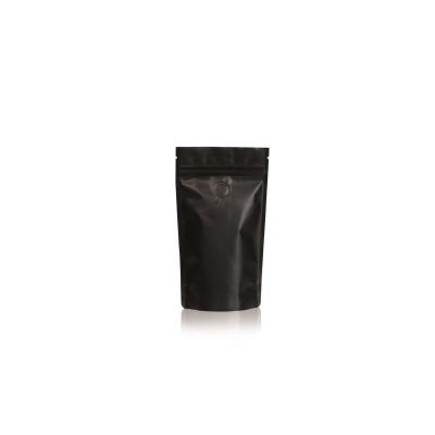Koffie Pouch mat zwart 125 gram bonen