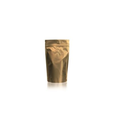 Koffie Pouch mat goud 125 gram bonen