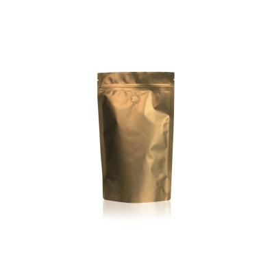 Koffie Pouch mat goud 300 gram bonen