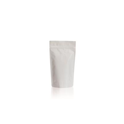 Koffie Pouch mat wit 125 gram bonen