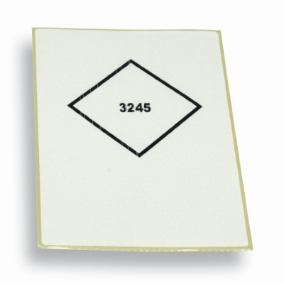 Label UN3245 wit