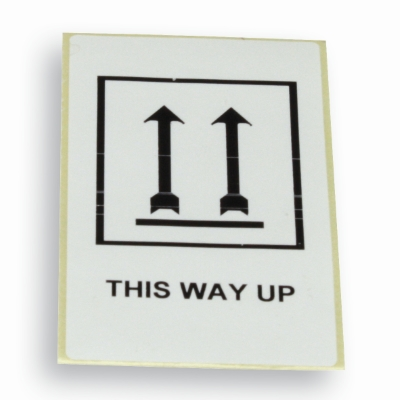Label 'This way up' wit