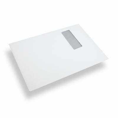Papieren envelop A4 / C4 wit venster links