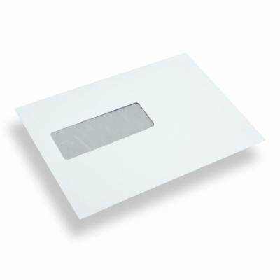 Papieren envelop EA5 wit venster links