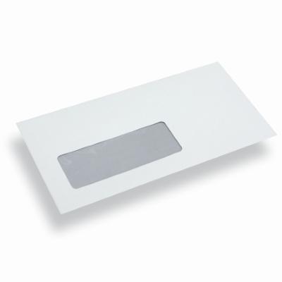 Enveloppe papier din long blanche fen tre gauche for Enveloppe fenetre a gauche