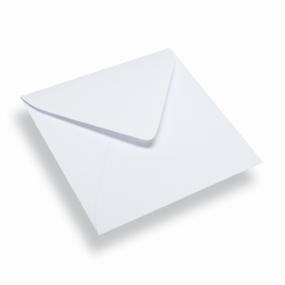 Vierkante papieren envelop 170 x 170 wit