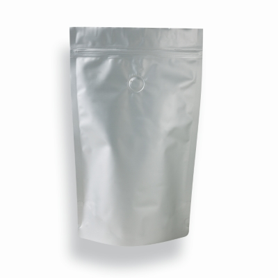 Koffie Pouch mat zilver 500 gram bonen