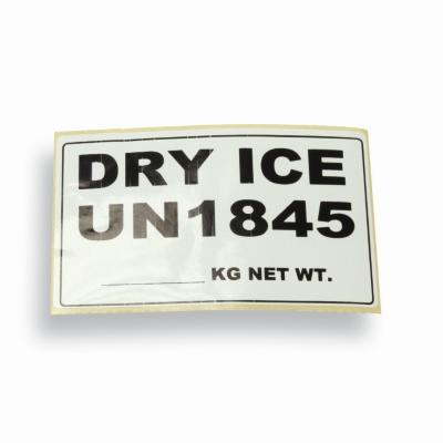 Label UN1845 droog ijs inhoud