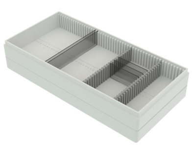 Storage box voor 50 Slides , wit, k50w