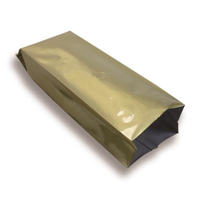 Zijvouwzak goud met ventiel 1000 g