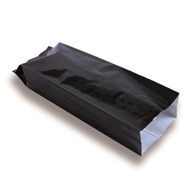 Zijvouwzak zwart met ventiel 250 g