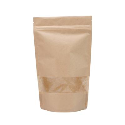 1L - Doypack Zip Papier Kraft/PE avec Fenêtre