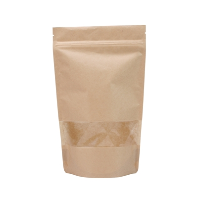 Lamizip Kraft Paper met venster 400 ml