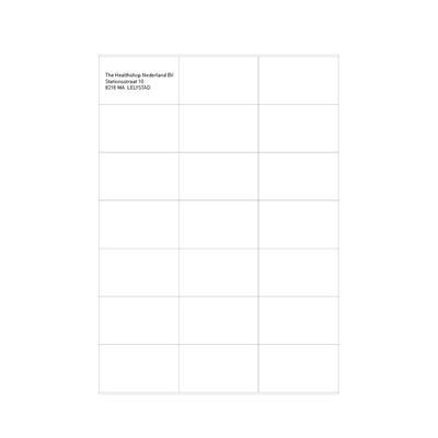 Etiquettes blanches 70 x 42