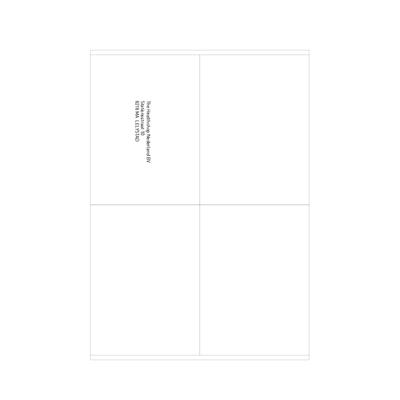 Weisse Etiketten 105 x 144