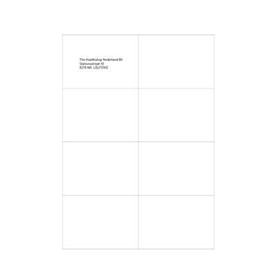 Etiquettes blanches 105 x 74