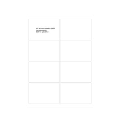 Etiketten transparant glans 99,1 x 67,7