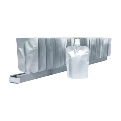 Standbodenbeutel mit Ausgießer 150 ml auf Rail (Schiene)