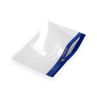 Pochette zip 485 x 340 bleu