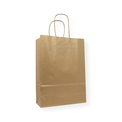 Kraft Paper Carrier Bag 230 x 100 x 320 bruin