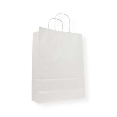 Kraft Paper Carrier Bag 230 x 100 x 320 wit