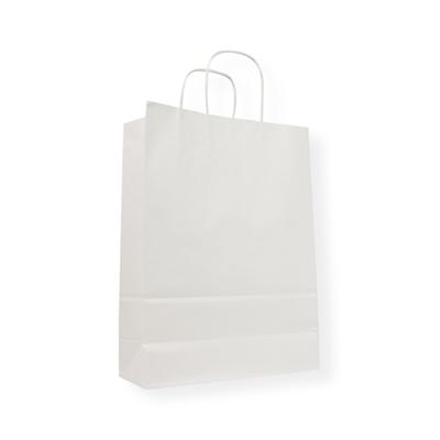 Kraft Papier Tragetasche 230 x 100 x 320 weiss