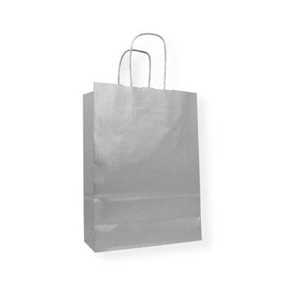 Kraft Paper Carrier Bag 320 x 130 x 425 zilver