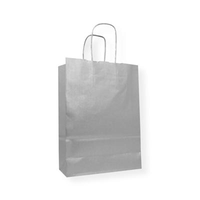 Kraft Papier Tragetasche 540 x 140 x 500 silber