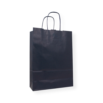 Kraft Paper Carrier Bag 320 x 130 x 425 blauw