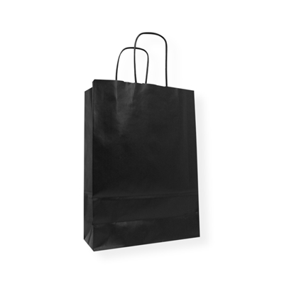 Kraft Paper Carrier Bag 180 x 80 x 250 zwart