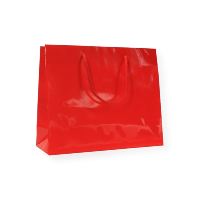 Glossy Bag Red 38x13x31cm+6cm