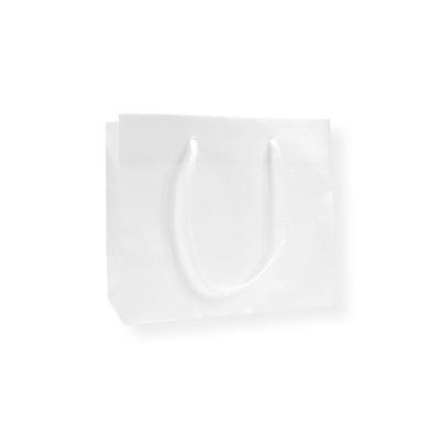 Glossy Bag Parel Wit 32x10x27cm+5cm