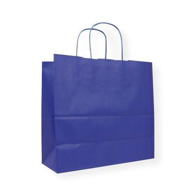 Sac Papier 420 x 130 x 370 bleu