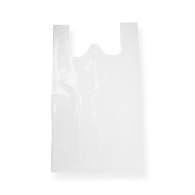 Sac plastique bretelle 500 + 150 x 850 Blanc